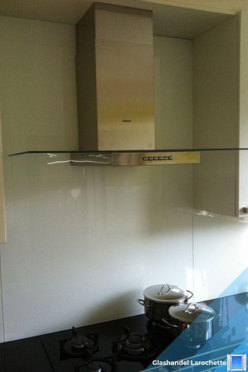 Glazen spatwand in de keuken